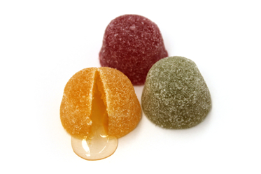 Vruchten cointreau met kern geel groen rood 2